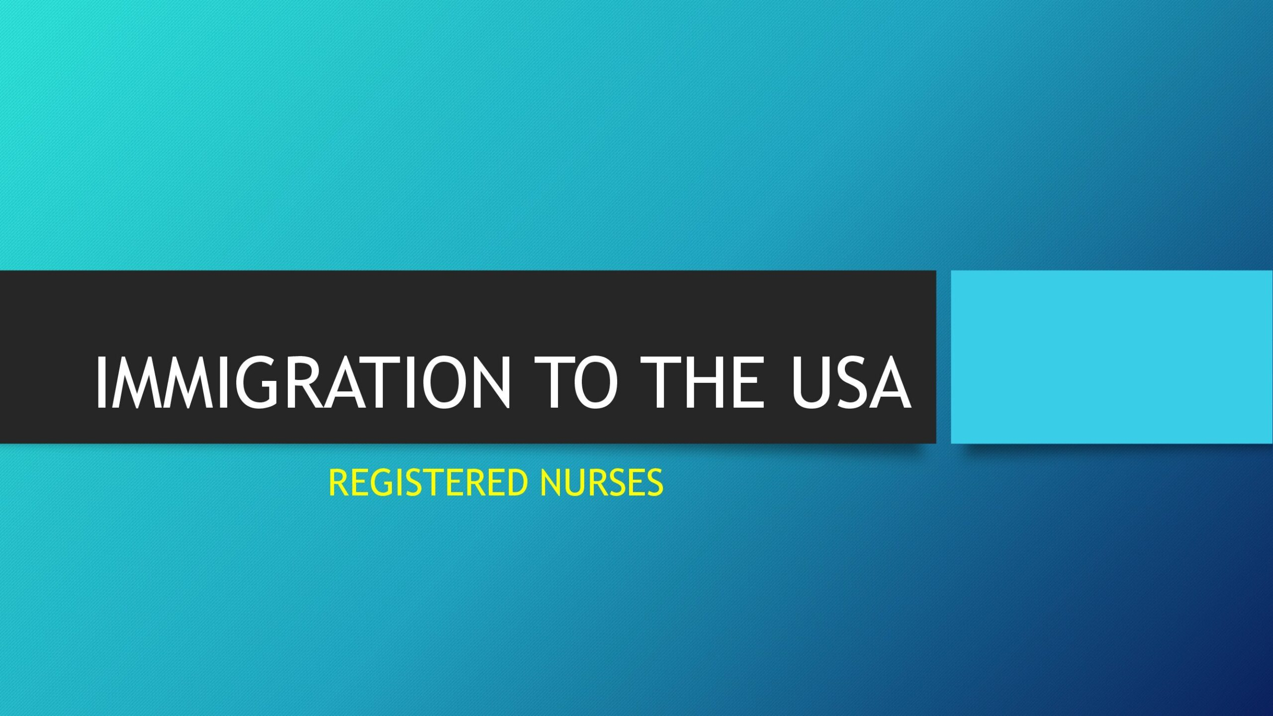 Immigration To The USA Registered Nurses